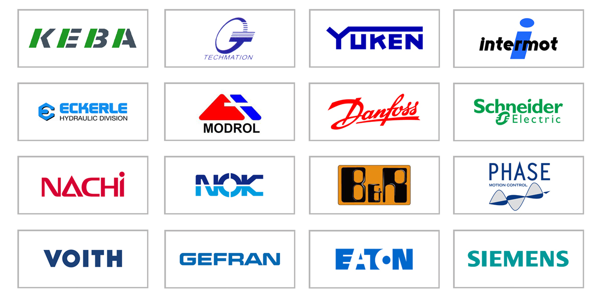 Strategic partmers with branded suppliers in machinery, electronics industry and hydraulic systems