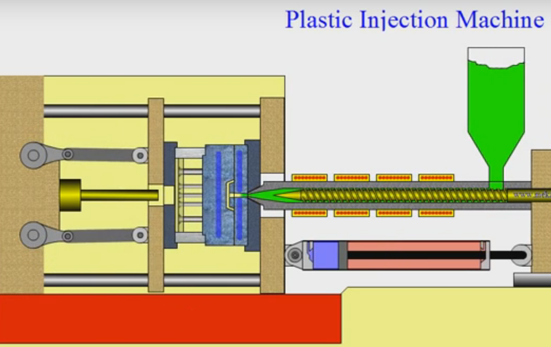 Inject Molten Plastic to Mould